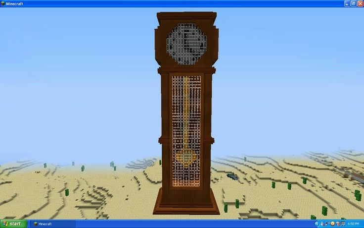 How To Build A Grandfather Clock In Minecraft