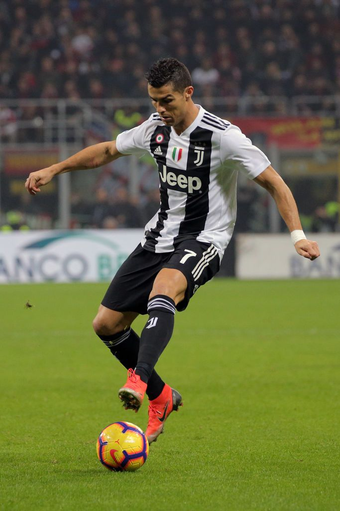 a4f95ea3c4 Cristiano Ronaldo  7 of Juventus FC in action during the serie A match  between AC Milan and Juventus FC at Stadio Giuseppe Meazza on November 11
