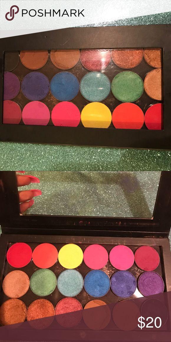 Custom eyeshadow palette Custom palette of large pan single shadows from Juvia's Place & Nyx. (Sale includes palette & eyeshadows) Makeup Eyeshadow