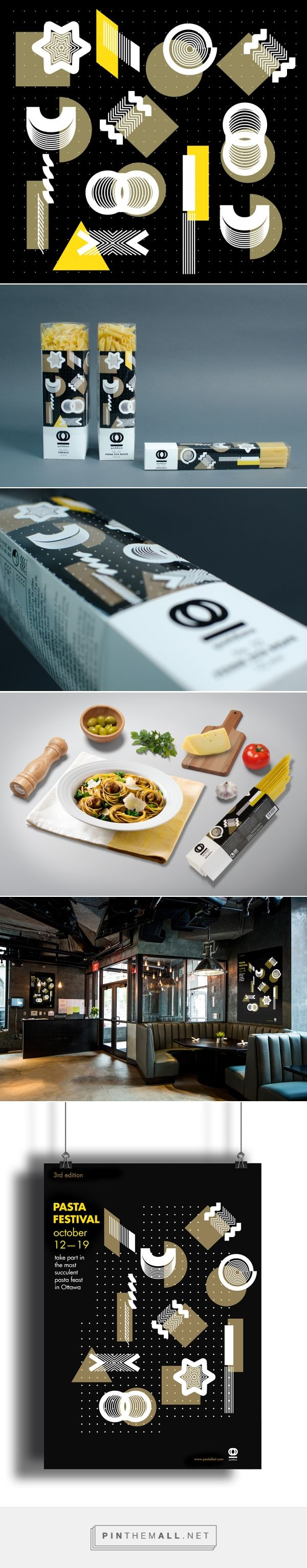 Branding, illustration and packaging for Quotidiano pasta on Behance by Yen Vy Vo Montreal, Canada curated by Packaging Diva PD. Comes with one extra flap contents recipes for its pasta. Packaging is in 3 languages: French, English and Italian.
