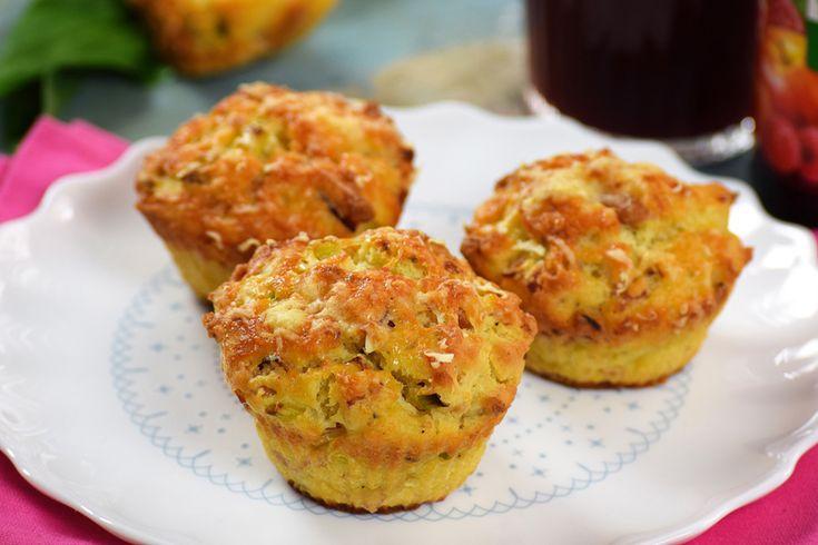 Ricottás-sonkás muffin