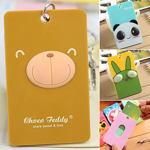 2016 Cartoon PVC Credit Card Holder Keyring Key Chain Sleeve Set Bus Card Case Bag Birthday Gifts 9TB3 #>=#>=#>=#>=#> Click on the pin to check out discount price, color, size, shipping, etc. Save and like it!