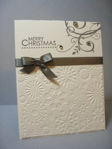 I have this embossing folder and never use it! This is a great use. Baroque Christmas by @Pandora Spocks @SplitCoastStampers