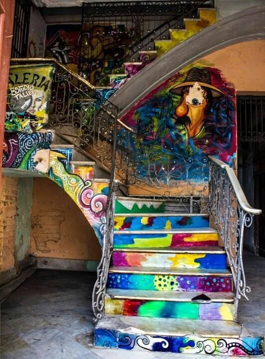 THIS stair case…Bohemian Beautiful… I've said I never wanted stairs in my dream home. How differently thought...