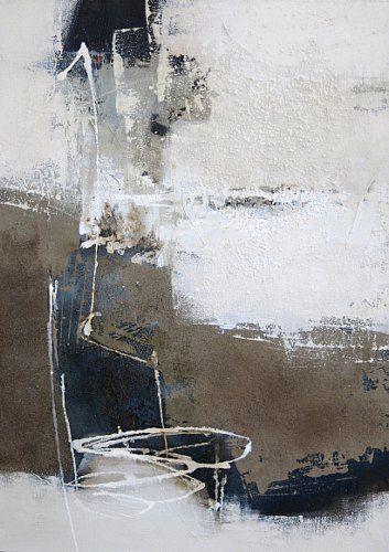 """Renate Migas, """"Strukturen vor Schwarz I"""" Mit einem Klick auf 'Als Kunstkarte versenden' versenden Sie kostenlos dieses Werk Ihren Freunden und Bekannten."""