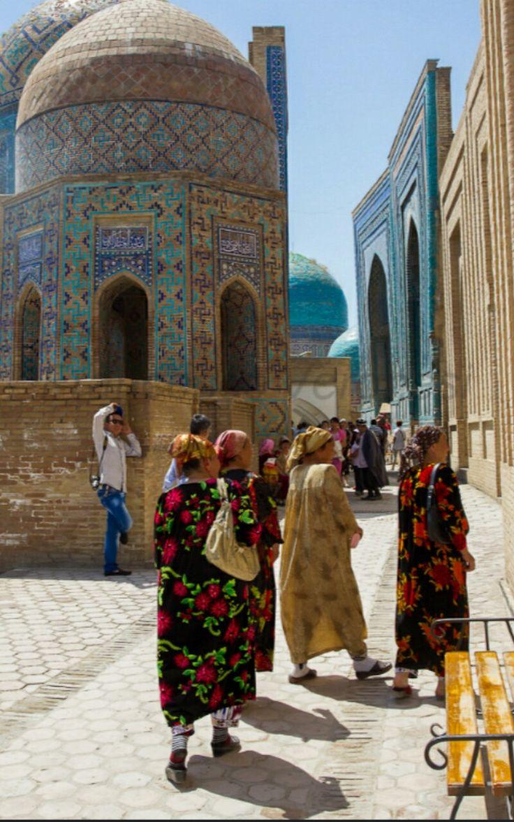 Shane zinda  Samarkand  Uzbekistan