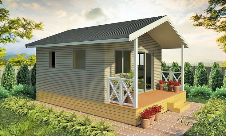 The Horizon studio cabin has a bedroom and a lounge/living area. Great for sleepouts or holiday cabins. The kitchen and bathroom areas are very functional. Fully finished with premium floor coverings, double glazing & verandah. Size: 24.9sqm plus verandah.