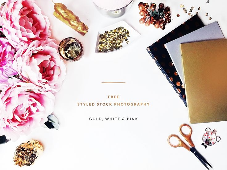 FREEBIES Free Styled Stock Photography Gold White and Pink Styled Desktop GOLD AND BERRY Goldandberry blog