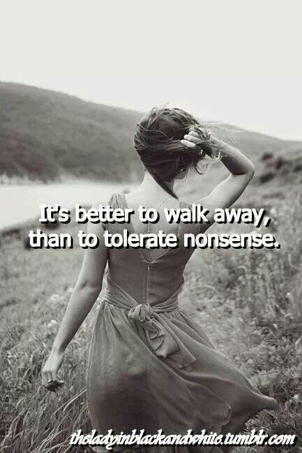 dating walking away
