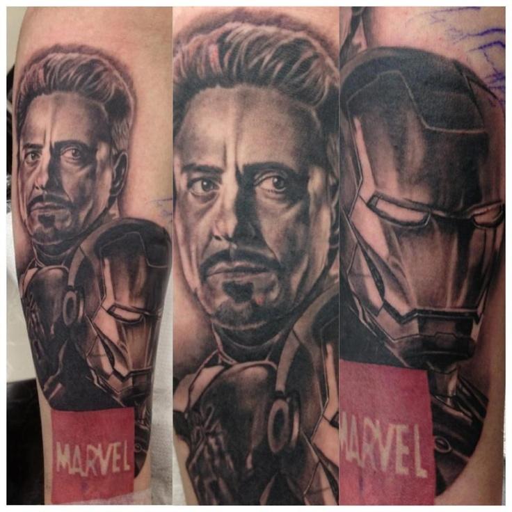 Iron Man tattoo by Duncan at Dragstrip Tattoo Studio. UK Tattoo Scene. #tattoo #tattoos #ink