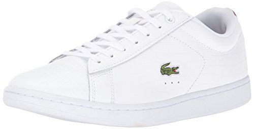Lacoste Women's Carnaby Evo Mid G316 2 Fashion Sneaker, White/Red, 7 M US -- More info could be found at the image url.