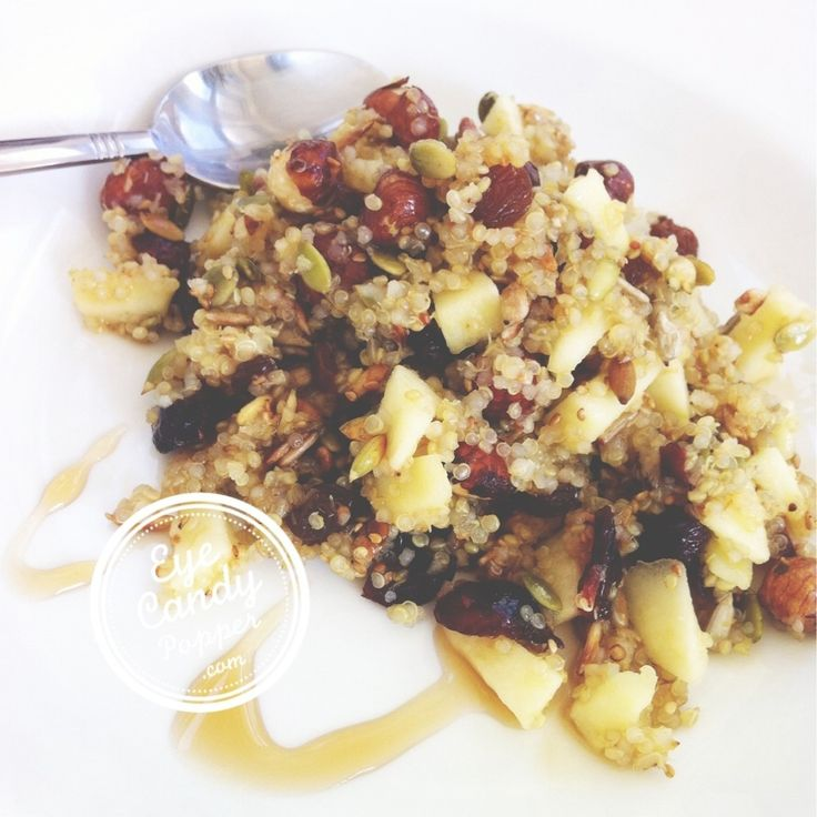 Delicious quinoa breakfast (vegan, gluten-free, soy-free, sugar-free)