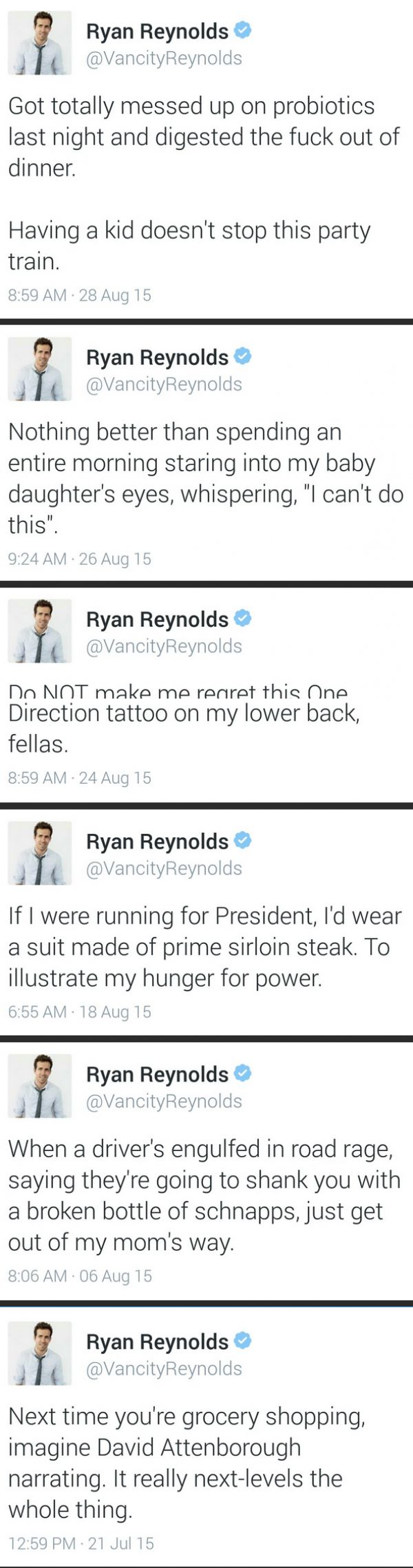 Ryan Reynolds Twitter is my new favorite thing  #RePin by AT Social Media Marketing - Pinterest Marketing Specialists ATSocialMedia.co.uk
