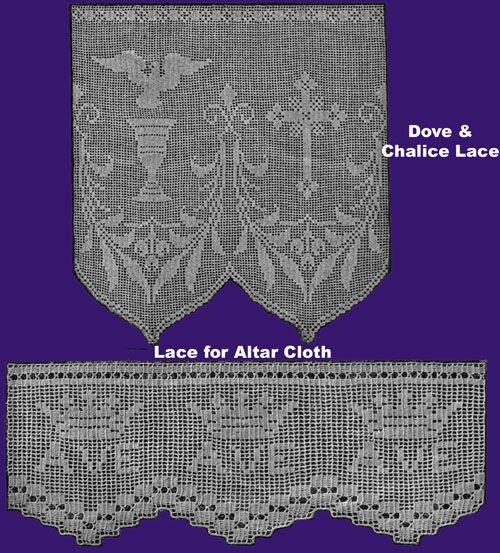 Iva Rose Vintage Reproductions - Weldon's 4D #100 c.1935 - Crocheted Church Laces