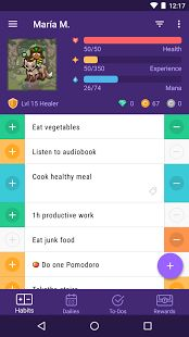 Habitica: Treat your life like a game to stay motivated and organized. Habitica makes it simple to have fun while accomplishing goals. Input your Habits, your Daily goals, and your To-Do list, and then create a custom avatar. Check off tasks to level up your avatar and unlock features such as armor, pets, skills, and even quests.