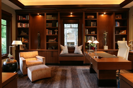 Traditional home office design dream home pinterest for Traditional home office design