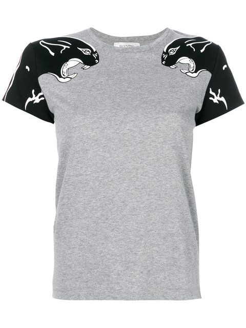 Valentino Panther Print T-shirt - Farfetch