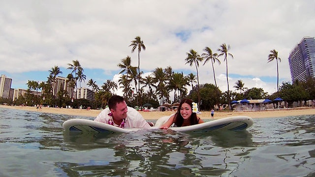 From the island of Oahu: Shigeko + Josiah, a Waikiki wedding complete with Japanese vows, sharks, and surfing in a wedding dress. Shige has a smile and laugh that will stay with you. It's clear she is the light of Josiah's life! Thanks to an amazing couple for a day in paradise!