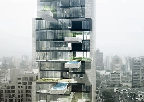 Luxury high rise in Lima has condos with private pools and terrace gardens   Designbuzz : Design ideas and concepts