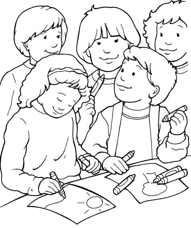 I Can Be A Friend Coloring Page