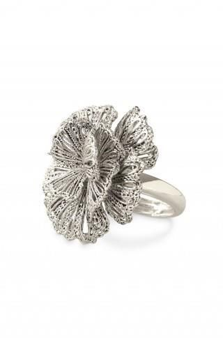 Regular Price $64    An eye-catching rosette cocktail ring inspired by vintage lace is ideal for any occasion. Brass with antiqued plating.   •Inner adjuster sizing fits 5-9.   •Lead & nickel safe.