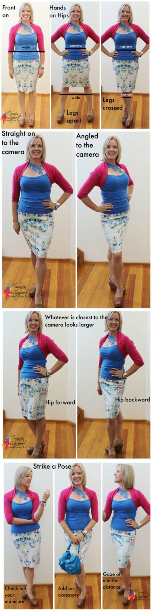 how to look slimmer in a selfie