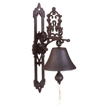 """Check out this item at One Kings Lane! 14"""" Cast Iron Scrollwork Doorbell, Brown"""
