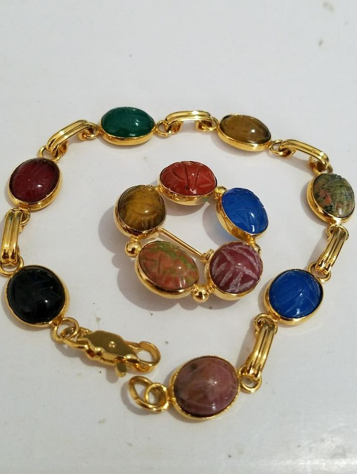 Vintage Scarab Bracelet Pin Brooch Set Costume Jewelry Goldtone | Jewelry & Watches, Vintage & Antique Jewelry, Costume | eBay!