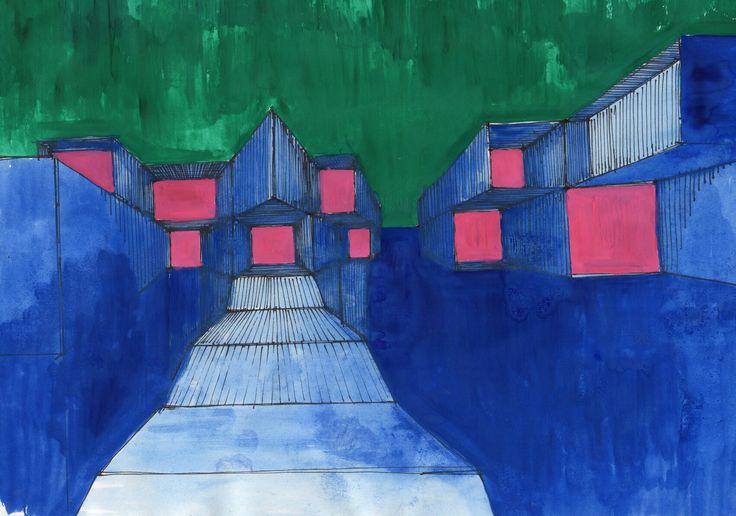 ..falsa restituzione di città invisibile Calviniana .. The [blue] City