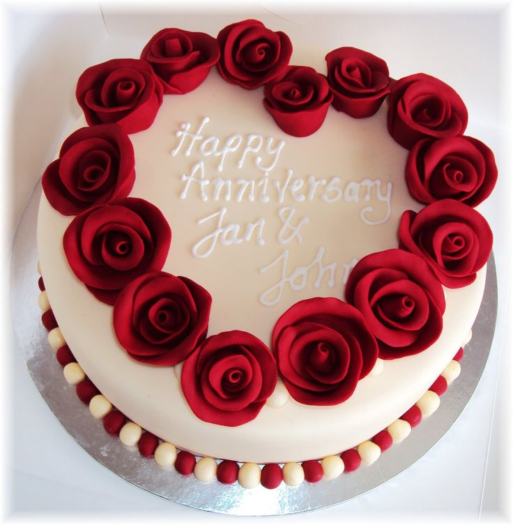 Design Of Cake For Anniversary : Best 25+ Anniversary cake designs ideas on Pinterest ...