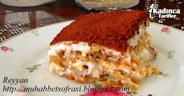 Elmalı Bisküvi Pastası | Kadınca Tarifler | Kolay ve Nefis Yemek Tarifleri Sitesi - Oktay Usta