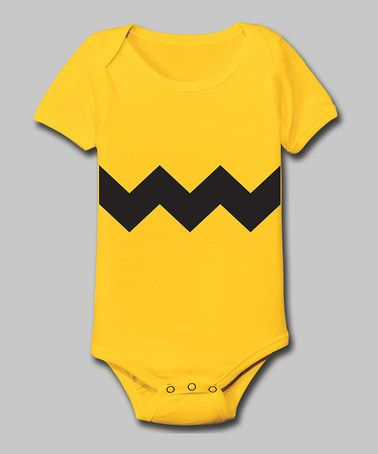 Take a look at this Yellow Zigzag Bodysuit - Infant by Tuxedo Tees on #zulily today!