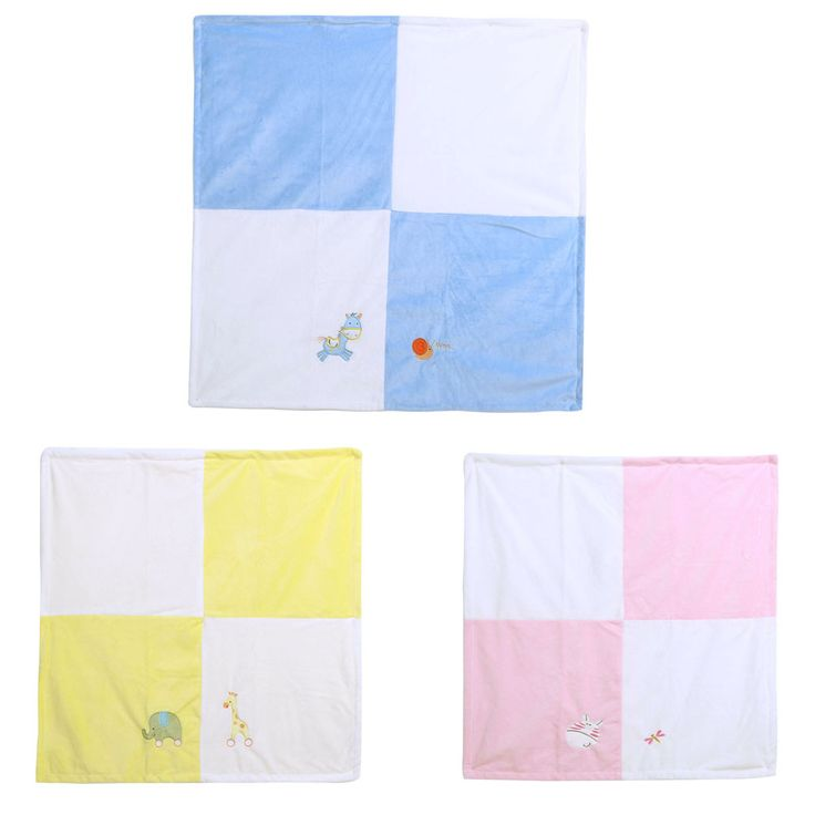 Baby Blanket 76cm X 76cm Baby Bedding Product Infant Swaddling Crystal Comfortable Velvet Cartoon Blankets Yellow, Blue, Pink