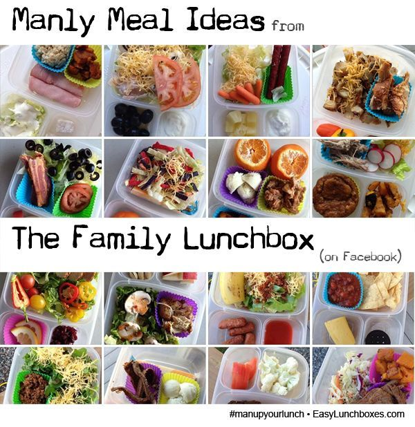 Manly meal ideas from The Family Lunchbox packed in @EasyLunchboxes