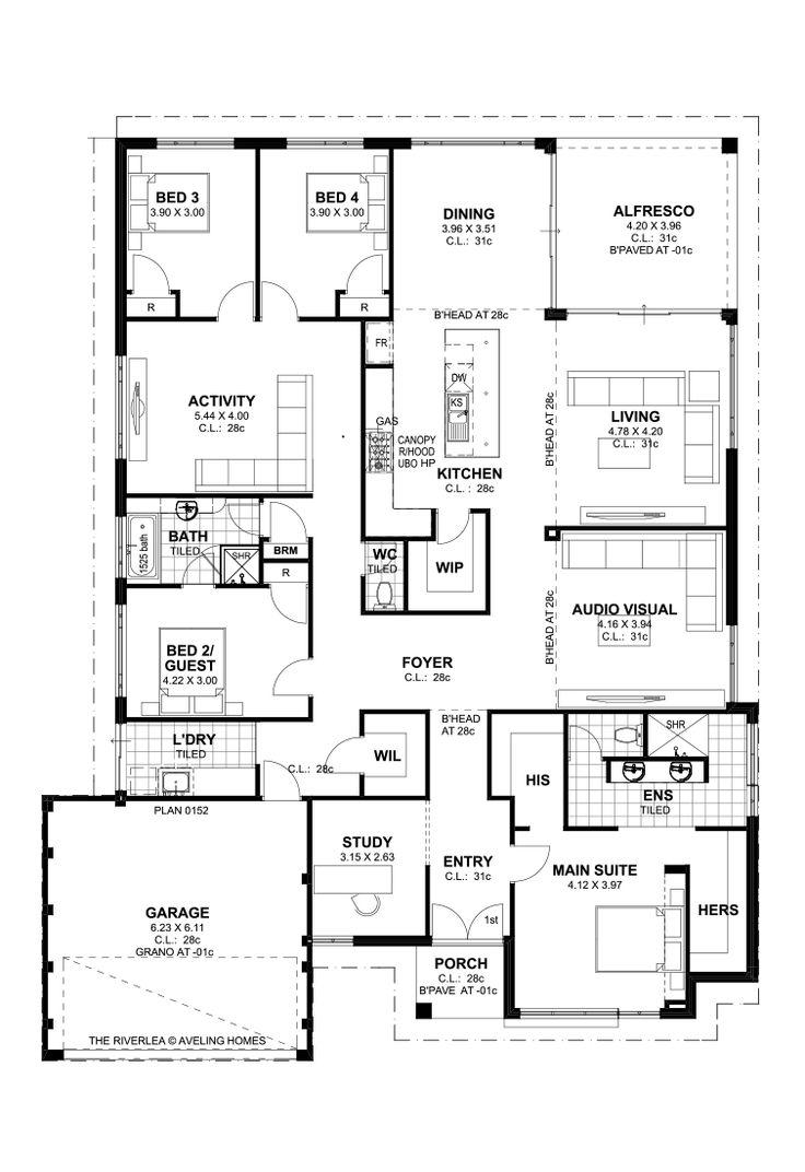 The Riverlea floorplan - avelinghomes.com.au