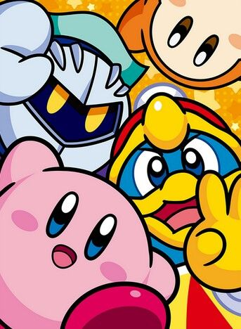 Meta Knight, Waddle dee, King Dedede, and Kirby