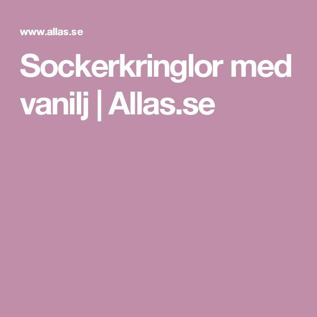 Sockerkringlor med vanilj | Allas.se