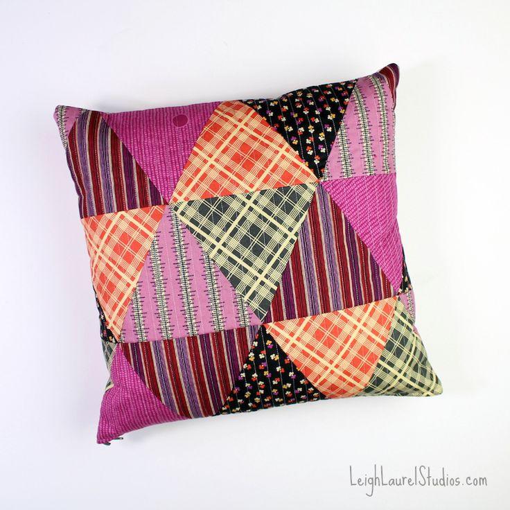 DIY: patchwork triangle pillows