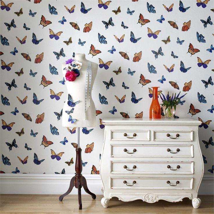 Graham & Brown 52cm x 10m Flitterby Pearly Wallpaper #pearlwhite #shimmerbackground #british #flirty #fun