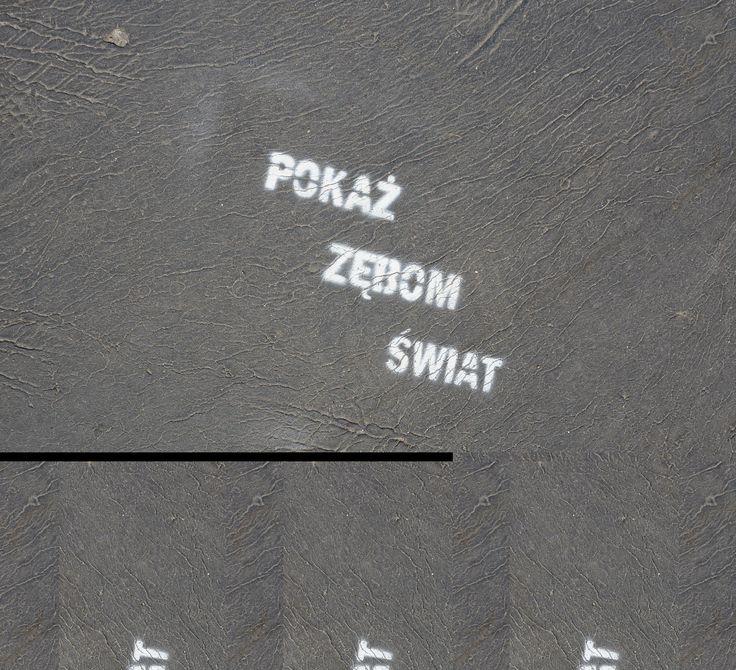 Kraków,Bulwary wiślane.Zachęta do uśmiechu.