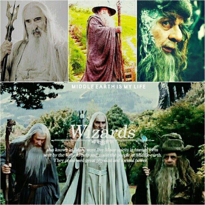 Wizards. Protectors of Middle Earth. #wizards #middleearth #saruman #gandalf #radagast #istari #thewhite #thegrey #thebrown #christopherlee #ianmckellen #sylvestermccoy #lordoftherings #lotr #thehobbit