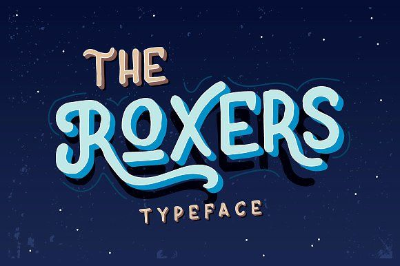 The Roxers Typeface by Fusion Labs on @creativemarket
