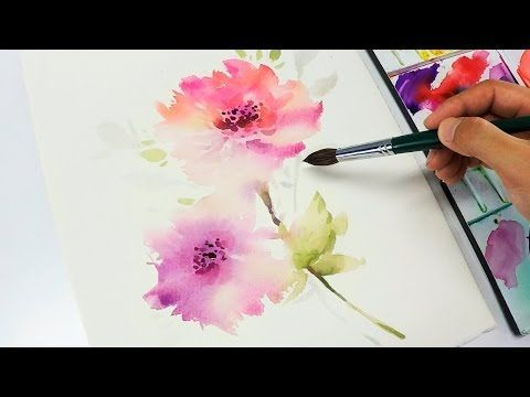 [LVL3] Watercolor flower painting wet into wet. Link download: http://www.getlinkyoutube.com/watch?v=d4JzZ7h25eU