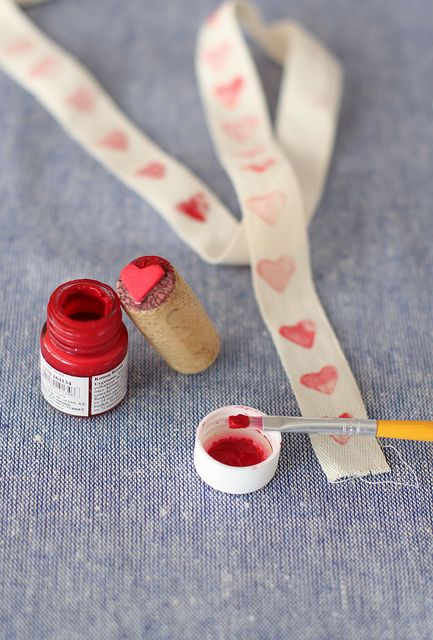 Wine-cork stamps are good for your heart. #DIY