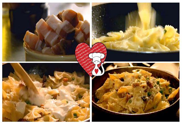Ricette e Segreti in Cucina : Ricetta veloce Pasta con piselli, pancetta e ricot...