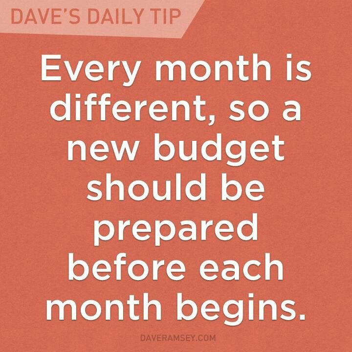 Dave Ramsey; wow this statement makes me a believer!  So true!
