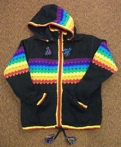 Black / Rainbow Sweater – Real Wool Shop