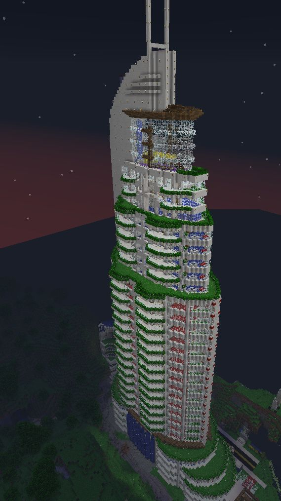 awesome minecraft skyscraper