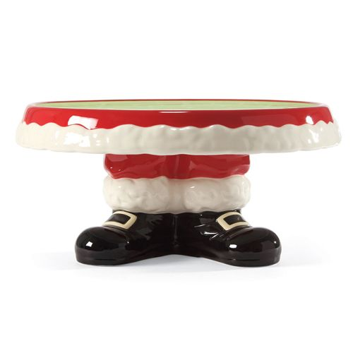 NEW FOR HOLIDAY 2013 - Display your holiday sweets in style with this festive Santa Claus Pant Pedestal Cake Stand.  sc 1 st  Pinterest : cake plates pedestal - pezcame.com
