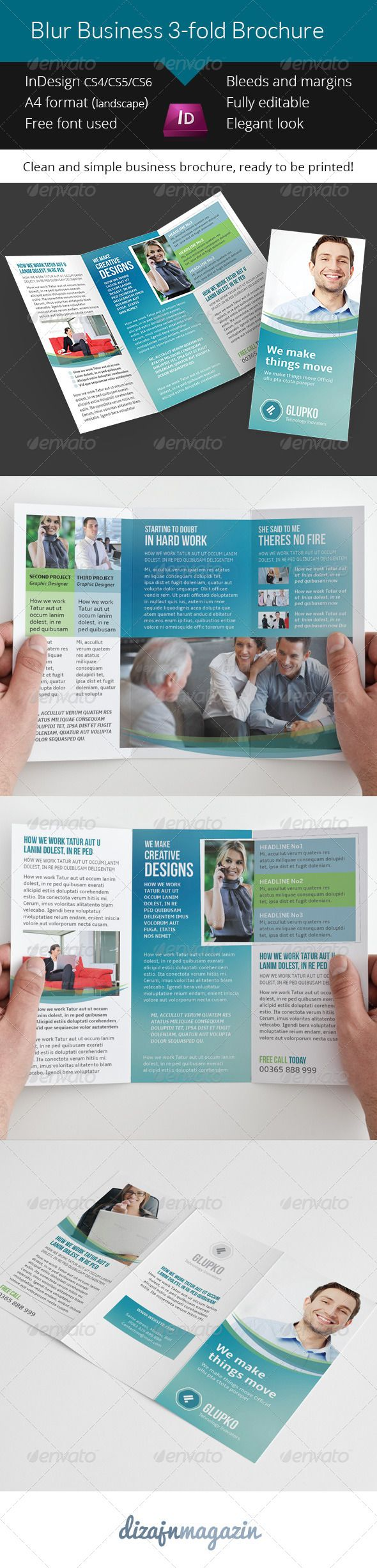 Best Trifold Brochure Template PSD Images On Pinterest - Indesign trifold brochure template